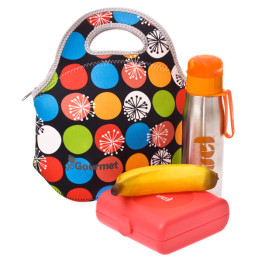 Go Gourmet Lunch Tote Polka Dot