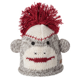 Knitwits Sock Monkey Cotton Beanie
