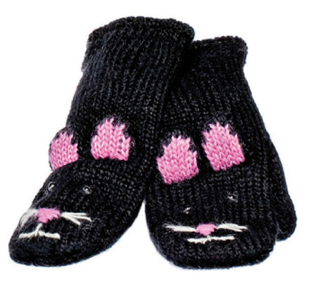 Knitwits Mittens Kiki the Kitty