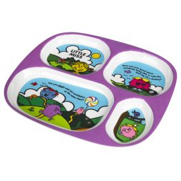 MR MEN Melamine Divided Plate Miss