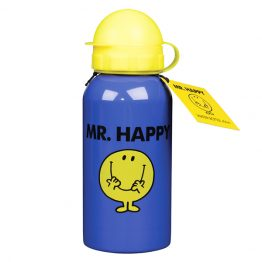 MR MEN Water Bottle 400ml Mr Happy