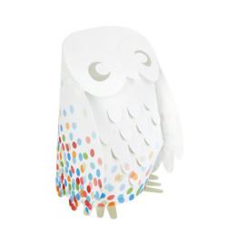 Multi Confetti Owl Lamp