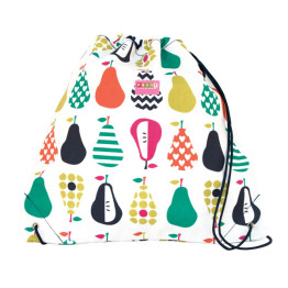 Penny Scallan Pear Salad Drawstring Bag