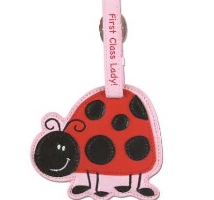Stephen Joseph Luggage Tag Ladybug
