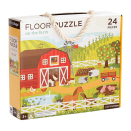 Tiger Tribe Petite Collage Floor Puzzle On The Farm