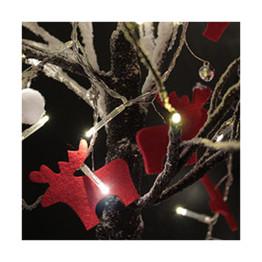 Felt Reindeer String Lights
