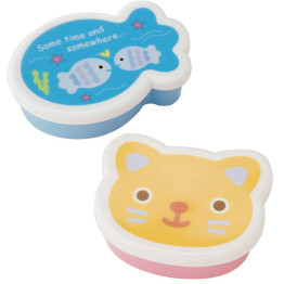 Fish and Cat Snack Containers
