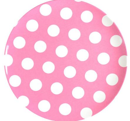 melamine-plate-pink-white-dots-20cm
