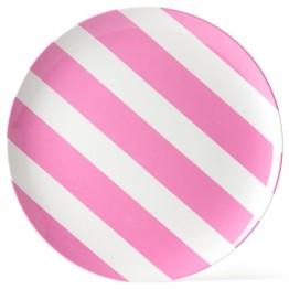 melamine-plate-pink-white-stripe-25cm