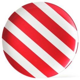 melamine-plate-red-white-stripe-25cm