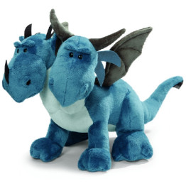NICI Blue Double Headed Dragon