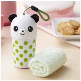 Panda Snack Container with Hand Towel