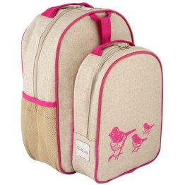 SoYoung Pink Birds Toddler Backpack & Lunch Box Set