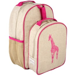 SoYoung Pink Giraffe Toddler Backpack & Lunch Box Set